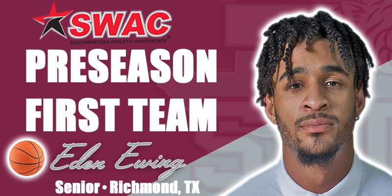 Ewing Named First Team All-SWAC, Men's Basketball Picked 2nd
